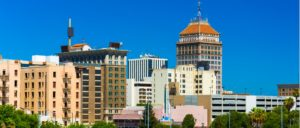 fresno downtown skyline with a clear blue sky picture id534306569